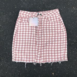 Misguided checkered skirt